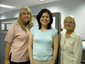 IBEW, Local 309 Office: from left: Linda Farley, Renee Schubert and Doris Tebbe.
