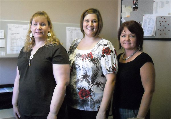 Sheet Metal Workers, Local 36 Benefit Fund Office:  from left Cyndi Foster, Judi Mitcell and Beth Curlee